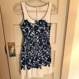 Ivory and black floral dress by Charlotte Russe